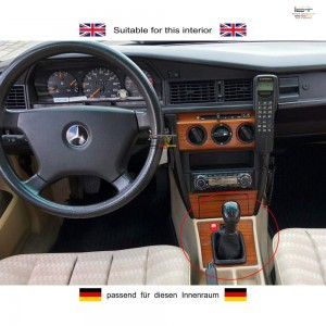 Schaltknauf Schaltsack C-Klasse-W201 leder schaltmanschette
